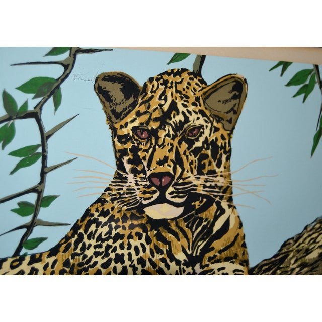 Original Lithograph 'Cheetah' Signed by Artist Mac Couley For Sale - Image 4 of 13