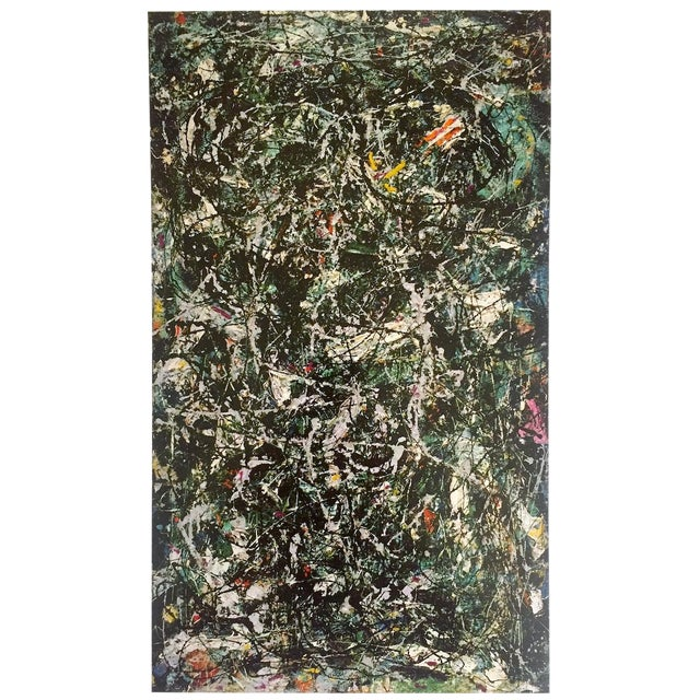 """Jackson Pollock Foundation Abstract Expressionist Collector's Lithograph Print """" Full Fathom Five """" 1947 For Sale"""