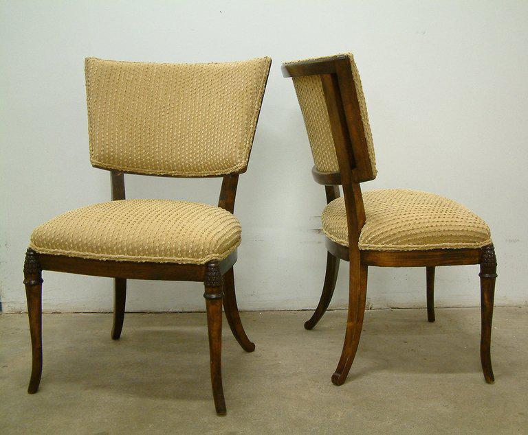 1930s Beechwood Klismos Chairs   A Pair   Image 2 Of 8