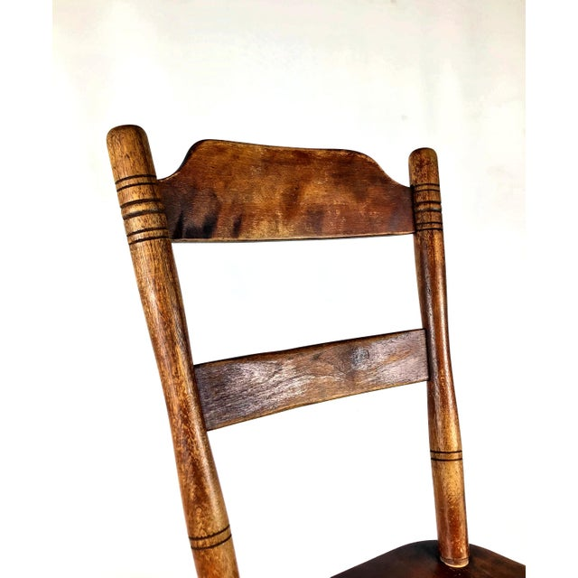 Early 18th Century Early 18th Century Antique Myles Standish Line Wood Chair For Sale - Image 5 of 13