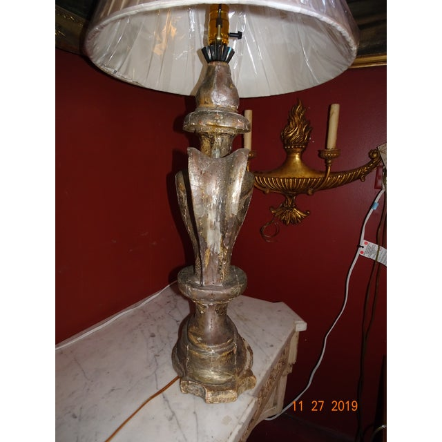 19th Century Silver Gilt Lamp For Sale - Image 4 of 13