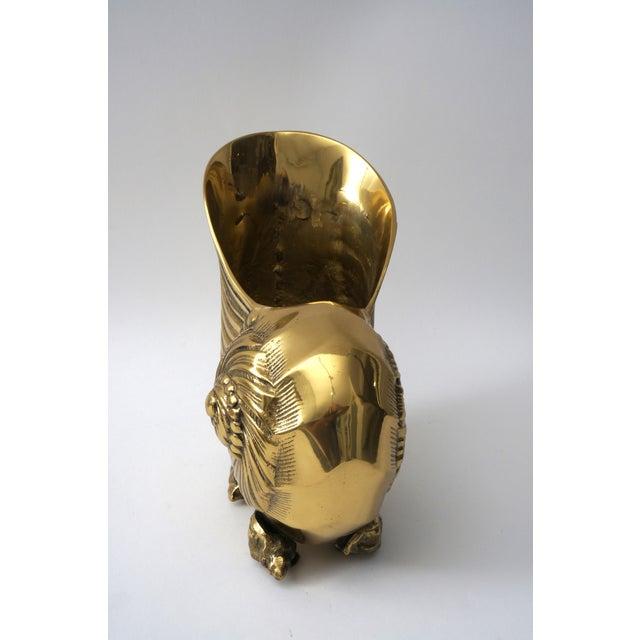 Nautilus Form Brass Cachepot - Image 3 of 8
