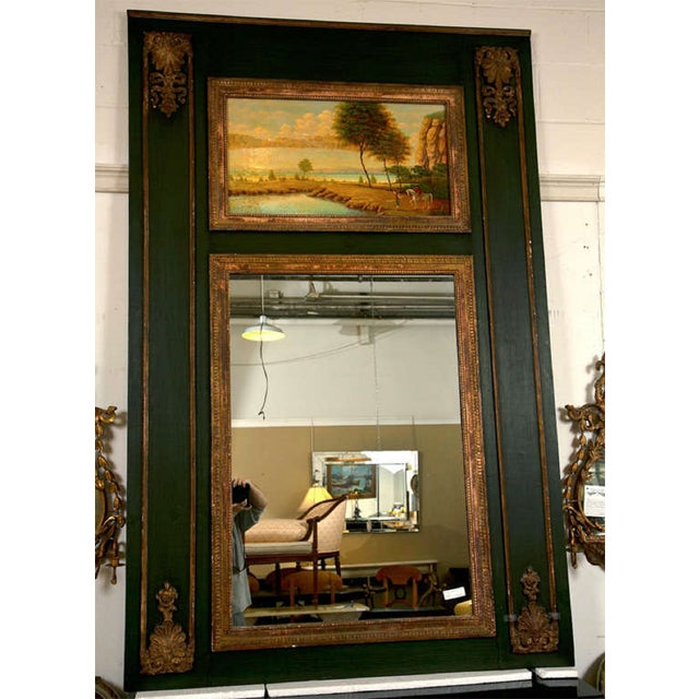 French Painted Trumeau Mirror - Image 8 of 8