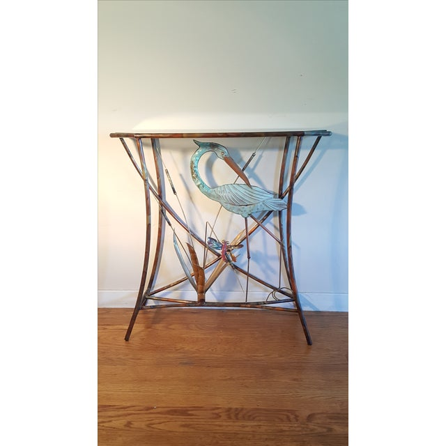 Mid-Century Modern Jere Style Brass Console - Image 2 of 8