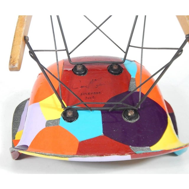 1950s Early Eames 1950s Rocker Updated by Artist Jim Oliveira For Sale - Image 5 of 8