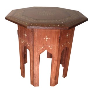 "Anglo-Indian ""Moroccan Style"" Inlaid Octagonal Table, Late 19th/Early 20th Century For Sale"