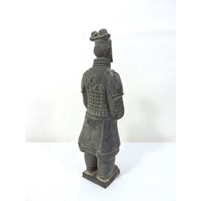 Mid 20th Century Vintage Chinese Terracotta Warrior Figure (X'ian), Boxed Statue For Sale - Image 5 of 9