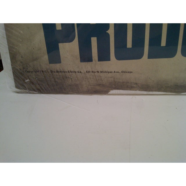 """""""Iron Worker"""" Vintage WWII Victory Poster For Sale - Image 5 of 8"""