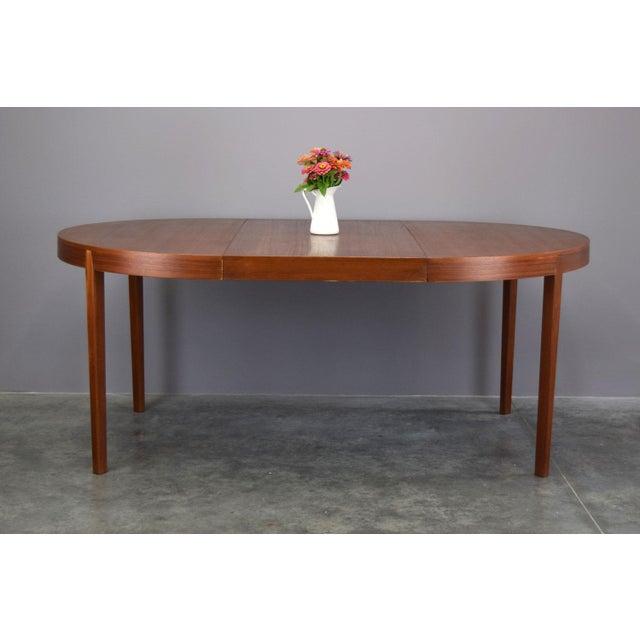 Hornslet Møbelfabrik Danish Teak Dining Table W/ 2 Leaves - Image 5 of 11