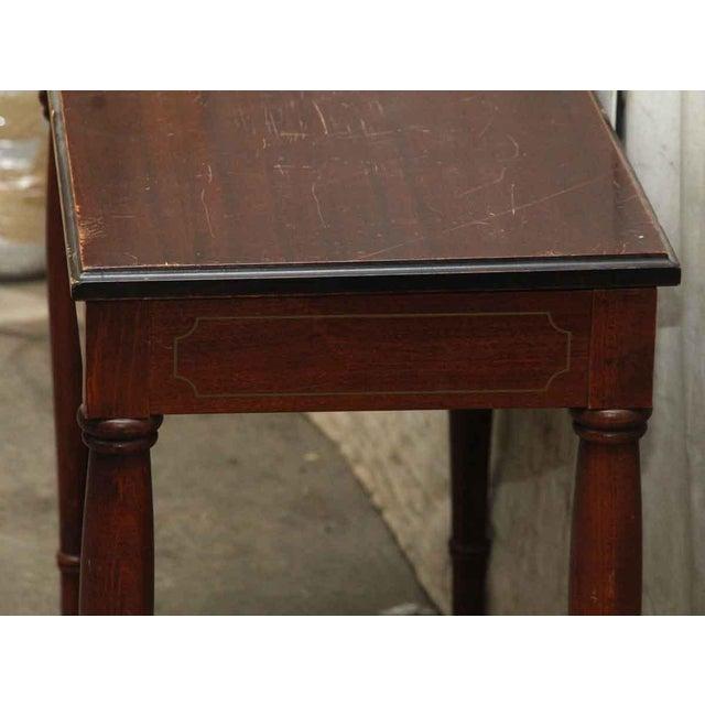 Brown Vintage Flip Top Storage Table For Sale - Image 8 of 10