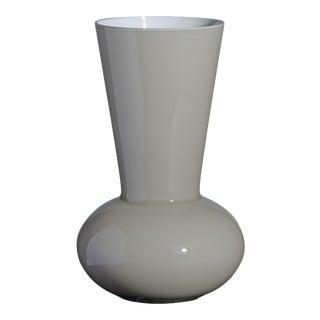 Small Troncosfera Vase in Grey by Carlo Moretti For Sale