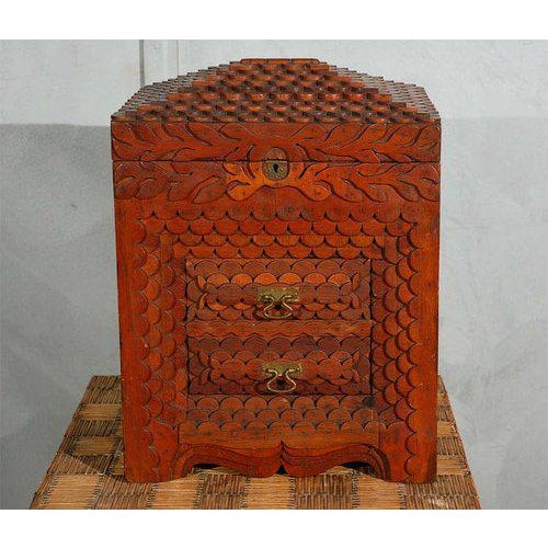Brass American Folk Art Compendium / Chest For Sale - Image 7 of 9