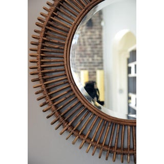 The 'Oculus' Round Rattan Mirror Preview