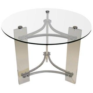 Lucite and Chrome Table by Charles Hollis Jones For Sale