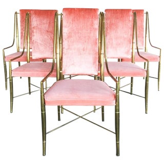 1970's Faux Bamboo Mastercraft Chairs - Set of 6