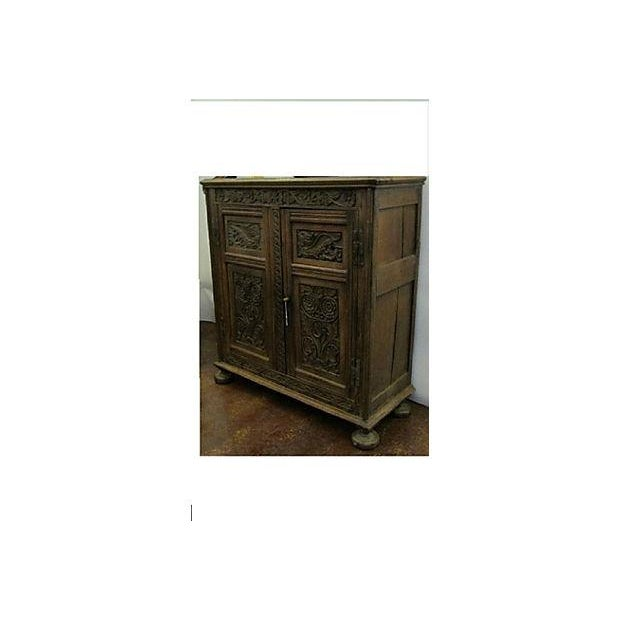 17th-Century Welsh Carved Oak Cupboard - Image 2 of 6