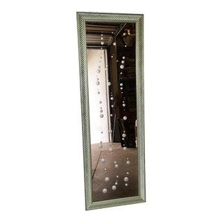 "Regency Venetian Peach Glass ""Bubbles"" Floor Mirror, Circa 1960 For Sale"