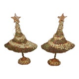 Image of Mid Century Whimsical Christmas Topiary Trees - a Pair For Sale