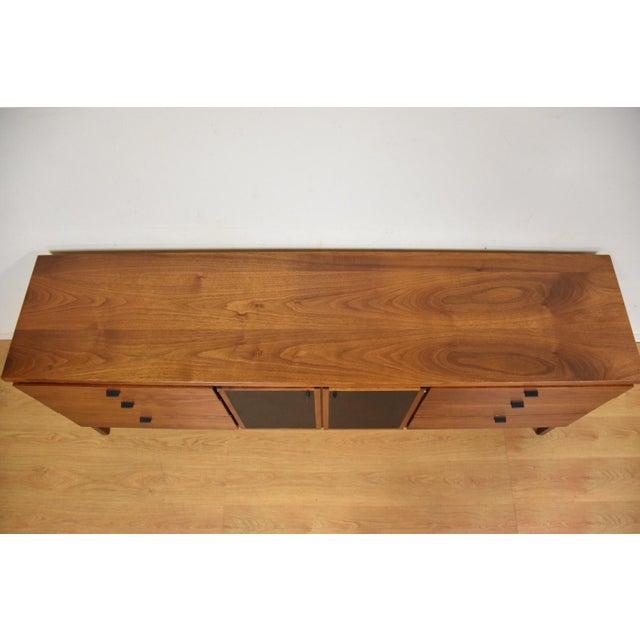 Walnut and Black Vinyl Dresser For Sale - Image 9 of 11