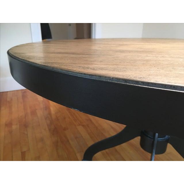 Magnussen Walton Iron & Wood Pedestal Table - Image 5 of 7