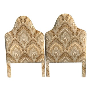 Hollywood Regency Upholstered Twin Headboards-Pair For Sale