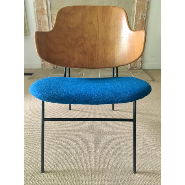 "Ib Kofod Larsen ""Penguin"" Chair in Blue - Image 2 of 11"