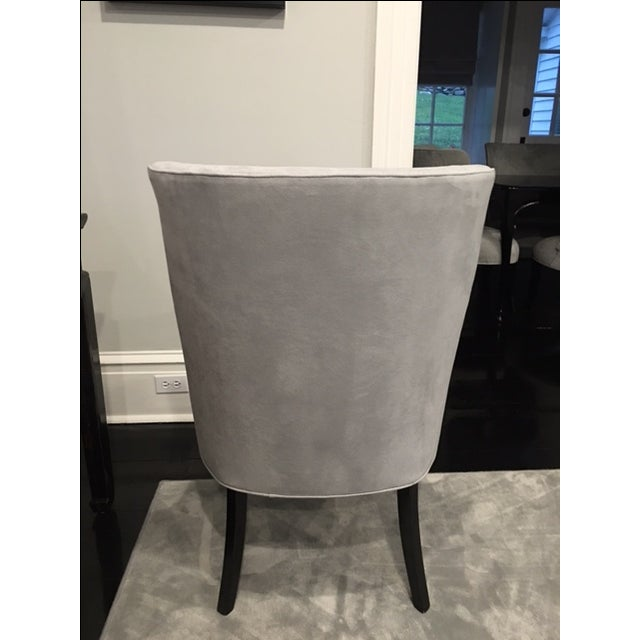 Vintage Chair With Donghia Gray Ultrasuede - Image 6 of 7