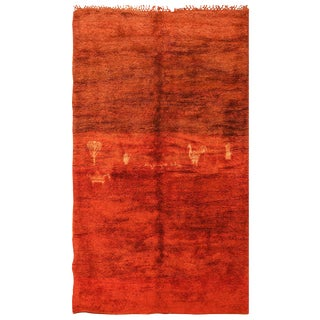 Vintage Tribal Moroccan Rug - 6′3″ × 10′6″ For Sale