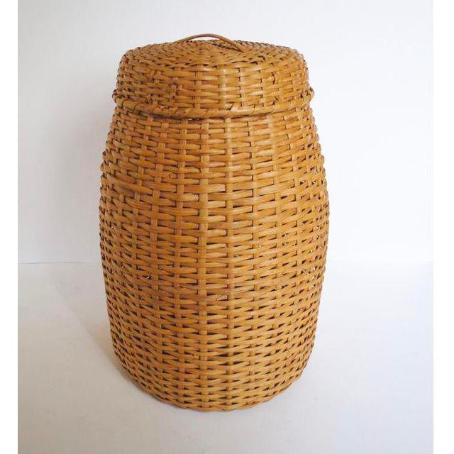 Large Rattan Standing Basket - Image 2 of 5