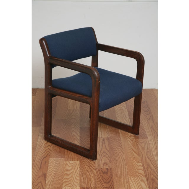 Vintage 1970s Mid-Century Modern Wooden Chair For Sale - Image 4 of 11