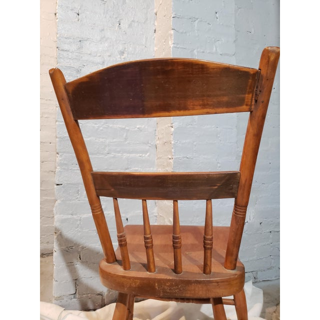 Early 19th Century 1825 Spindle Back Windsor Chair For Sale - Image 5 of 11