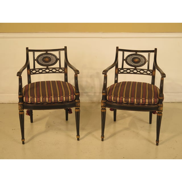 Smith & Watson Regency Decorated Armchairs - A Pair - Image 2 of 11