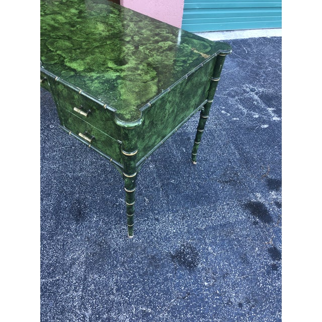 Jade Antique Painted Malachite Desk For Sale - Image 8 of 13