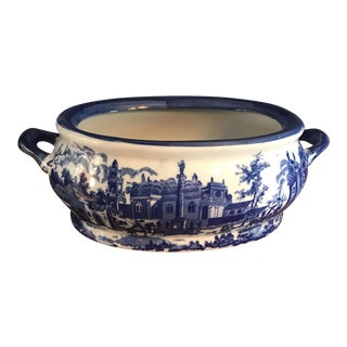 Victoria Ware Blue & White Ironstone Footbath