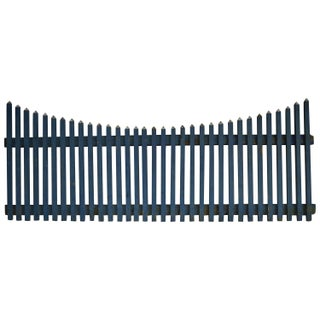 Rustic Cornflower Blue Farm Fence For Sale