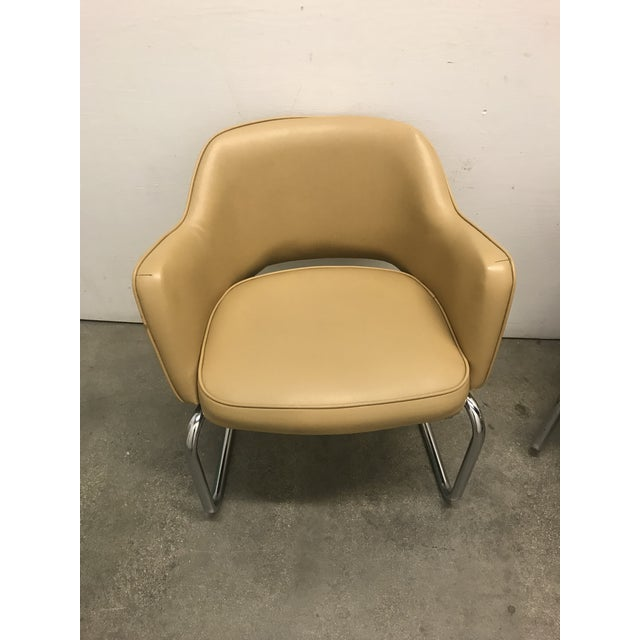 1960s Eero Saarinen Style Chairs - a Pair For Sale - Image 5 of 11