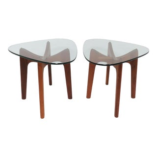 Pair of Adrian Pearsall Craft Associates End Tables Circa 1960s For Sale