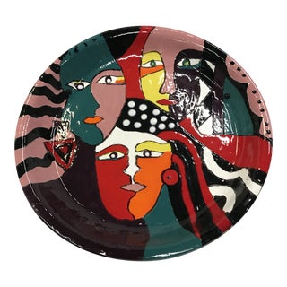 Abstract Faces Art Plate For Sale