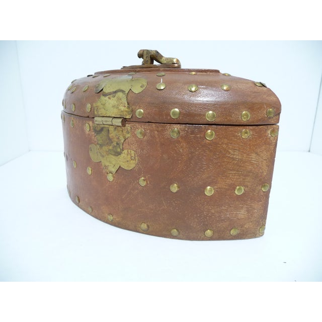 Rustic Wooden Box With Brass Accents - Image 4 of 7