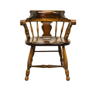 Late 20th Century Vintage Pennsylvania House Pine Pub / Captain's Armchair For Sale