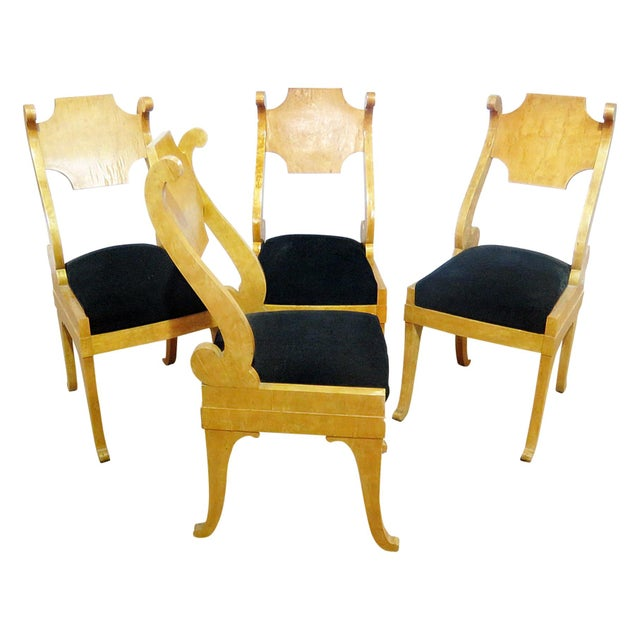 Set of 4 Biedermeier Style Side Chairs For Sale - Image 13 of 13