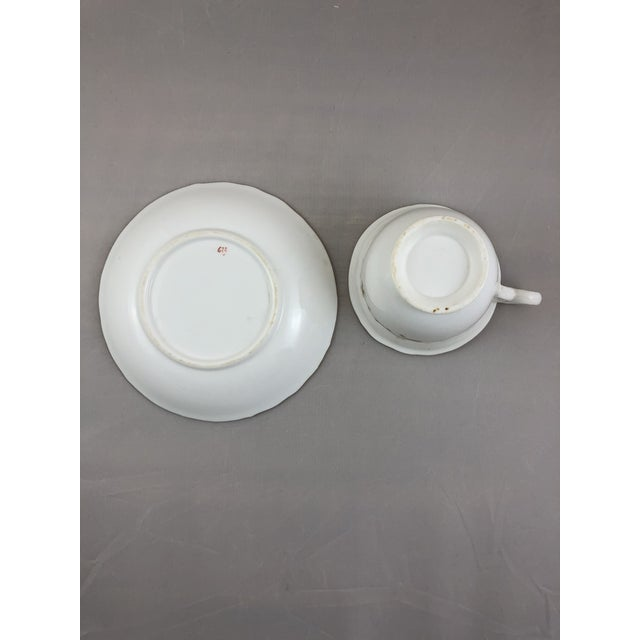 1900 - 1909 1900s Traditional Teacup and Saucer - 2 Pieces For Sale - Image 5 of 6