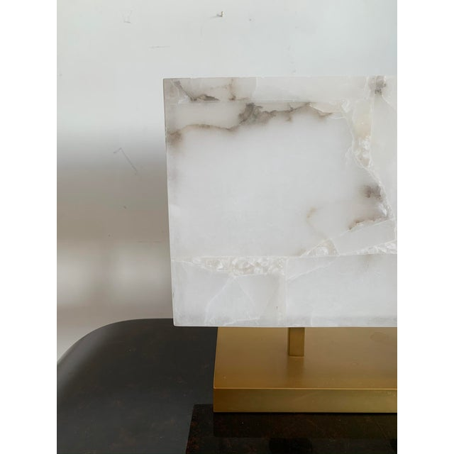 2010s Jamie Young Alabaster Lamp For Sale - Image 5 of 8