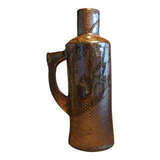 Hand Built Ceramic Bottle For Sale