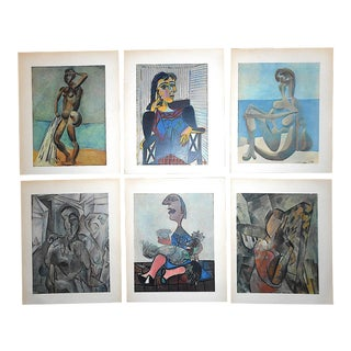 Vintage Mid 20th Century Picasso Lithographs-Set of 6 For Sale