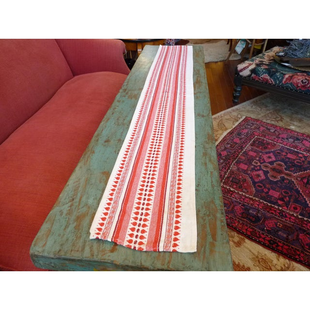 Red and White Table Runner - Image 3 of 6
