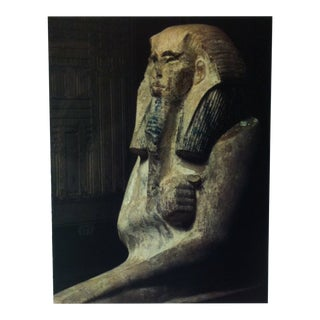 """Circa 1970 """"Pharaoh Zoser"""" IIIrd Dynasty Great Sculpture of Ancient Egypt Print For Sale"""