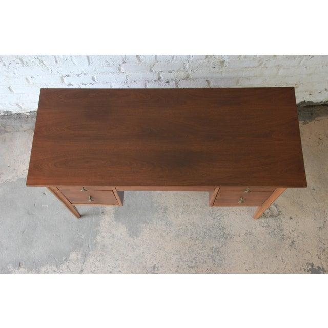 Brown Broyhill Brasilia Mid-Century Modern Sculpted Walnut Desk For Sale - Image 8 of 14