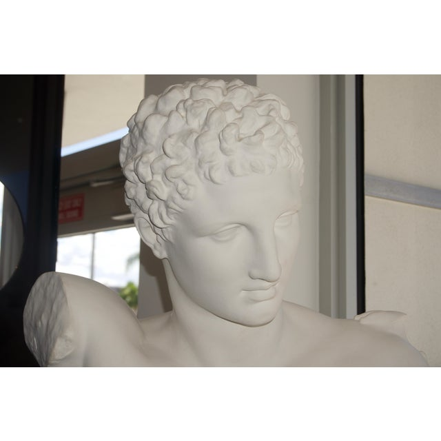 """Neoclassical Revival """"Hermes"""" Plaster Bust For Sale - Image 9 of 13"""