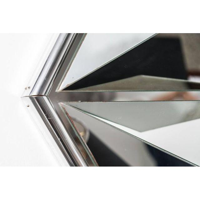Polished Chrome Polygon Shaped Wall Mirror For Sale In Miami - Image 6 of 10